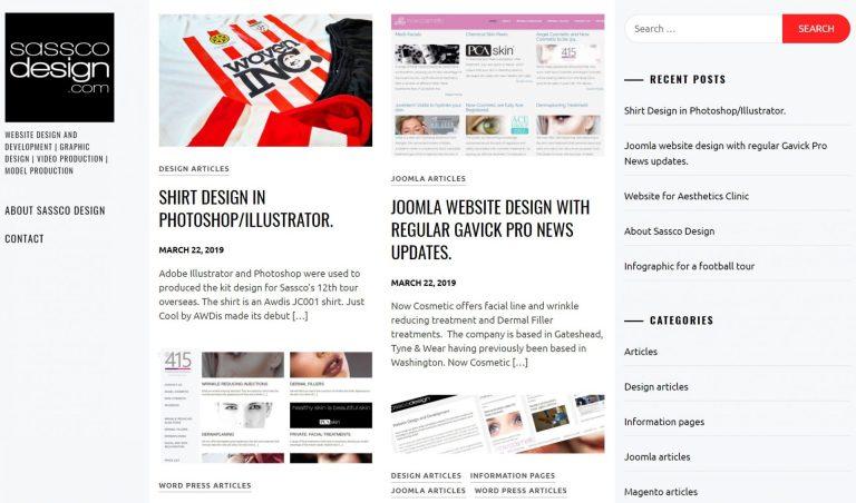 Joomla and WordPress website design and development.