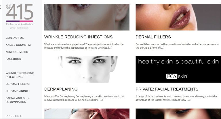 Website for Aesthetics Clinic