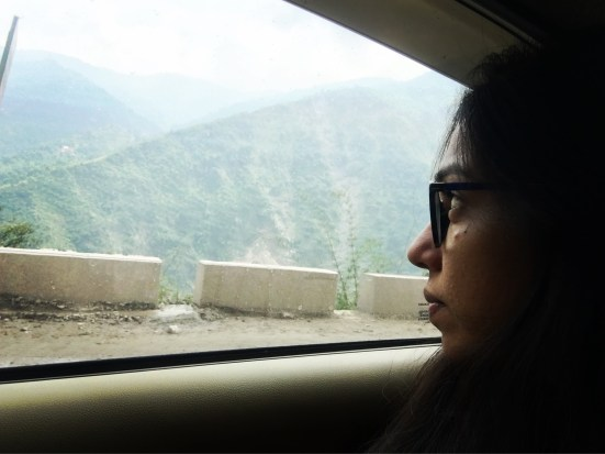 This would be me for most part of the journey.... Who would want to miss the quiet and scenery!! Himalayan Expressway, Chandigarh to Kasauli.