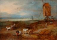 Piana con mulini a vento, Bruegel il vecchio