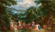 Paesaggio con il giudizio di Re Mida dopo il restauro