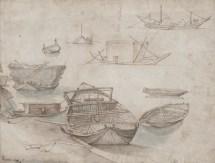 Studio di barconi e barche, Bruegel il vecchio