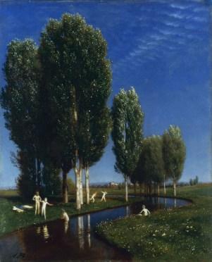 Arnold Böcklin (1827–1901) Der Sommertag, 1881 Öl auf Mahagoni, 61 x 50 cm Albertinum/Galerie Neue Meister, © SKD Foto: Hans-Peter Klut