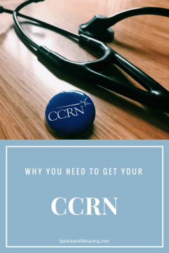 Why you should get your CCRN with stethoscope and pin