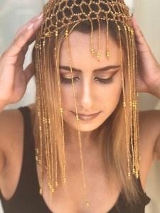 Girl with Egyptian headpiece