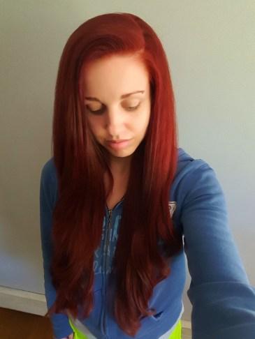 Smooth, shiny, silky hair.