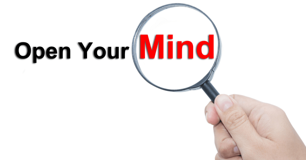 Be open-minded for spiritual growth