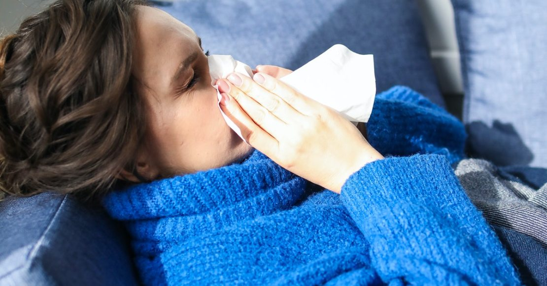 Cough due to lung infection