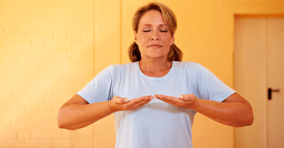 Focus on your breathing during mindfulness meditation