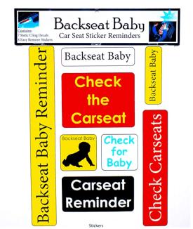 Backseat Baby Reminder Stickers
