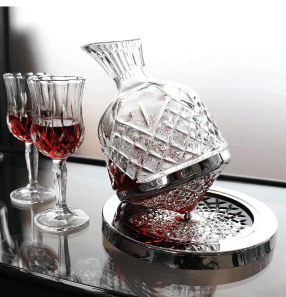 Luxurious 360°Rotating Wine/Liquor Decanter