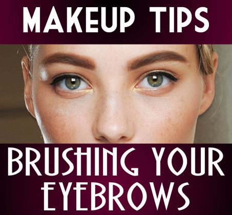 Woman With Bold Brows Brush Your Eyebrows JPG