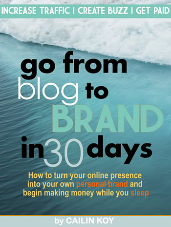 Go From Blog to Brand in 30 Days Cover