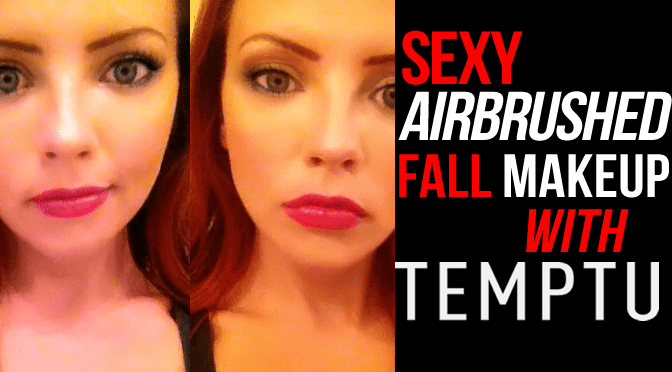 sexy airbrushed fall makeup with temptu