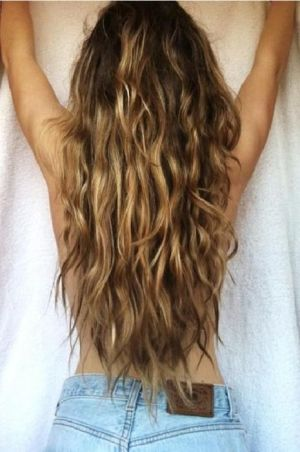 Beachy Waves Back Tan Mermaid