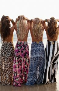 Mermaid Maxi Skirts on the Beach