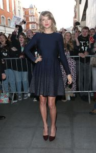 Taylor Swift at BBC Radio 1 Studios Ombre Dress