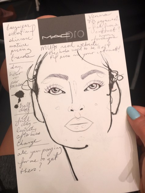 MAC Cosmetics Notes on Bridal Master Class