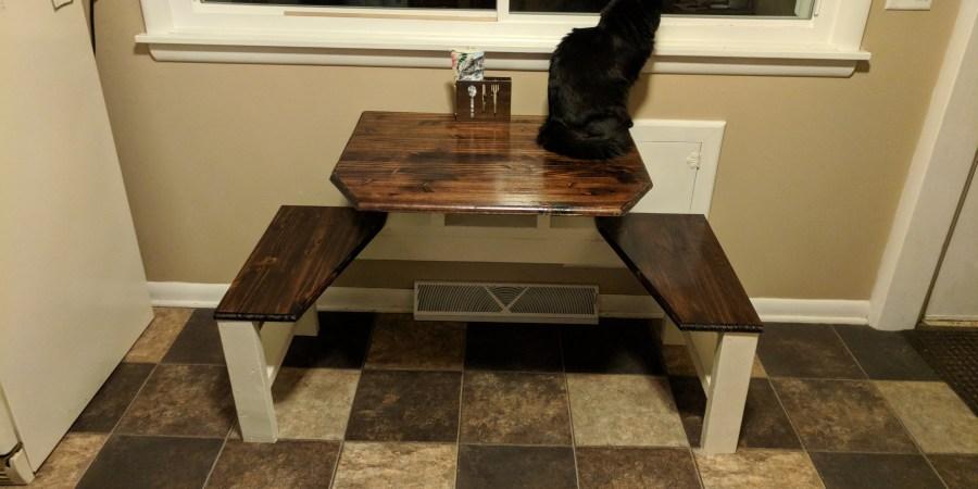 Build Kitchen Table Kitchen table sassyhacksaws two person kitchen table build 3 workwithnaturefo