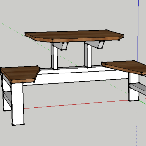 Table for Two CAD Drawing