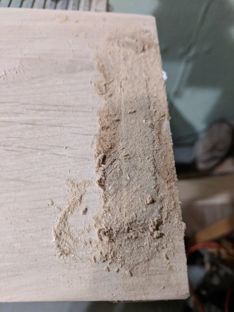 Back of Stove Shelf wood filler