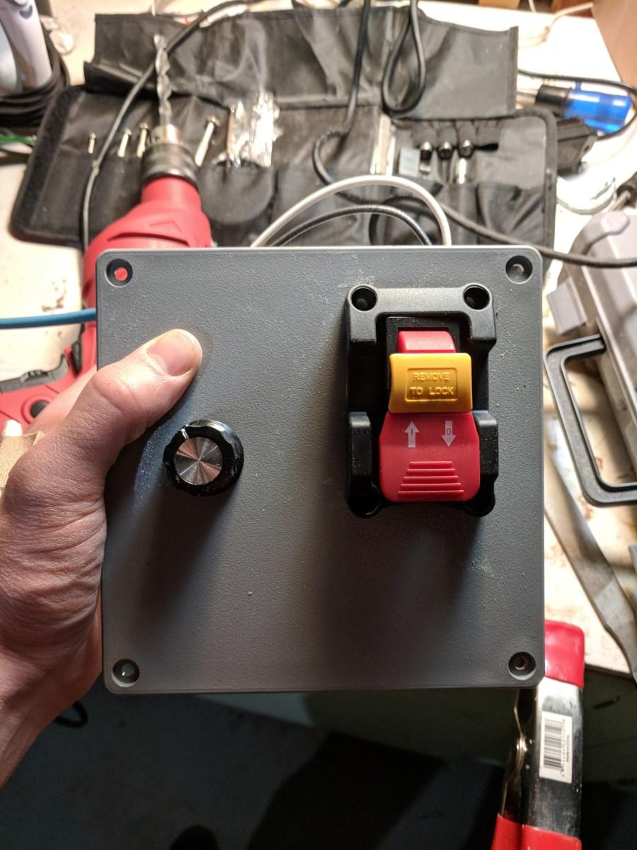 ShopSmith motor control panel