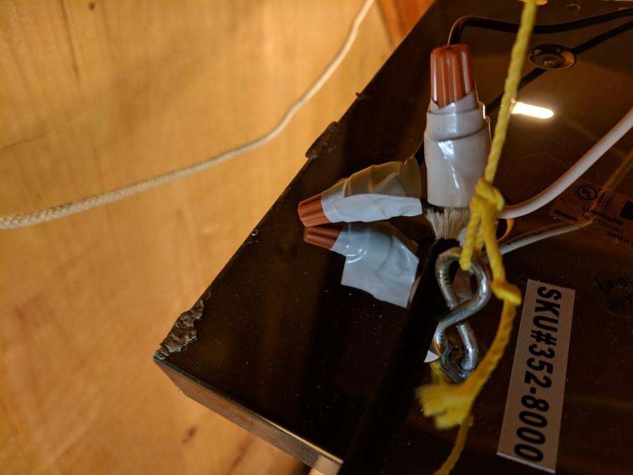 Greenhouse lights fixture hook