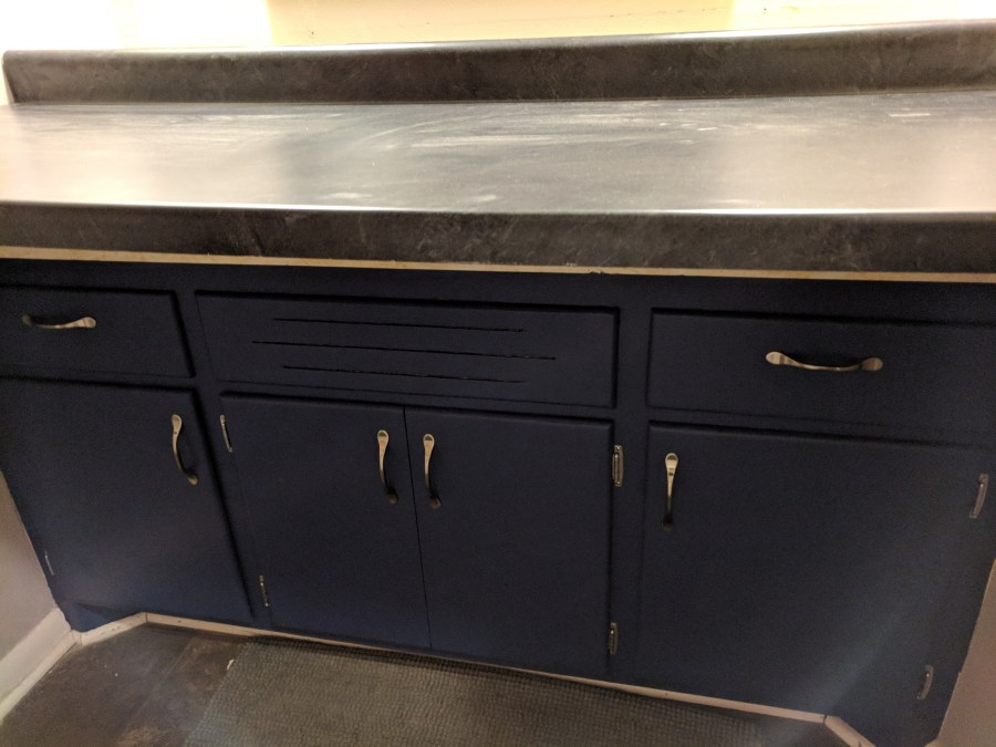 Bathroom Vanity with Counter top Installed