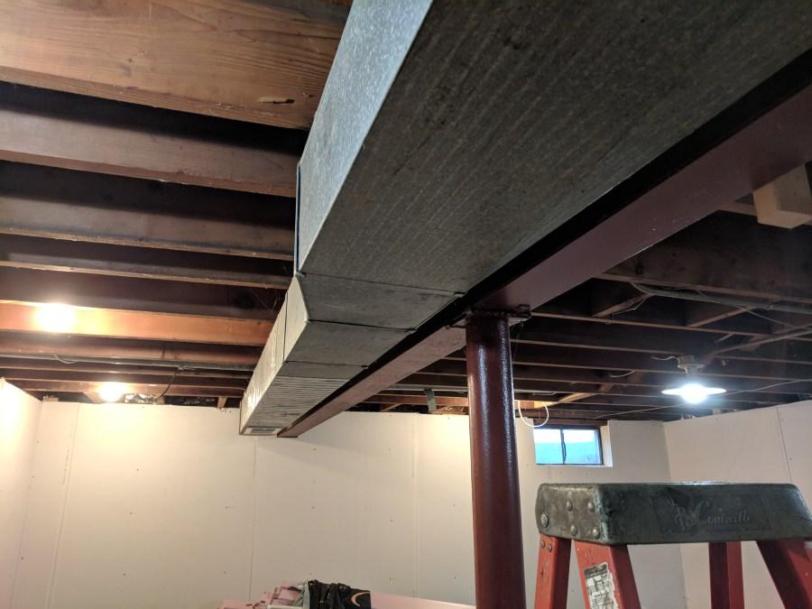Basement HVAC Casing Beginning