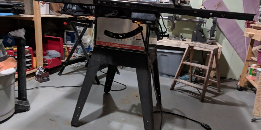 Craftsman Table Saw Assembled Front