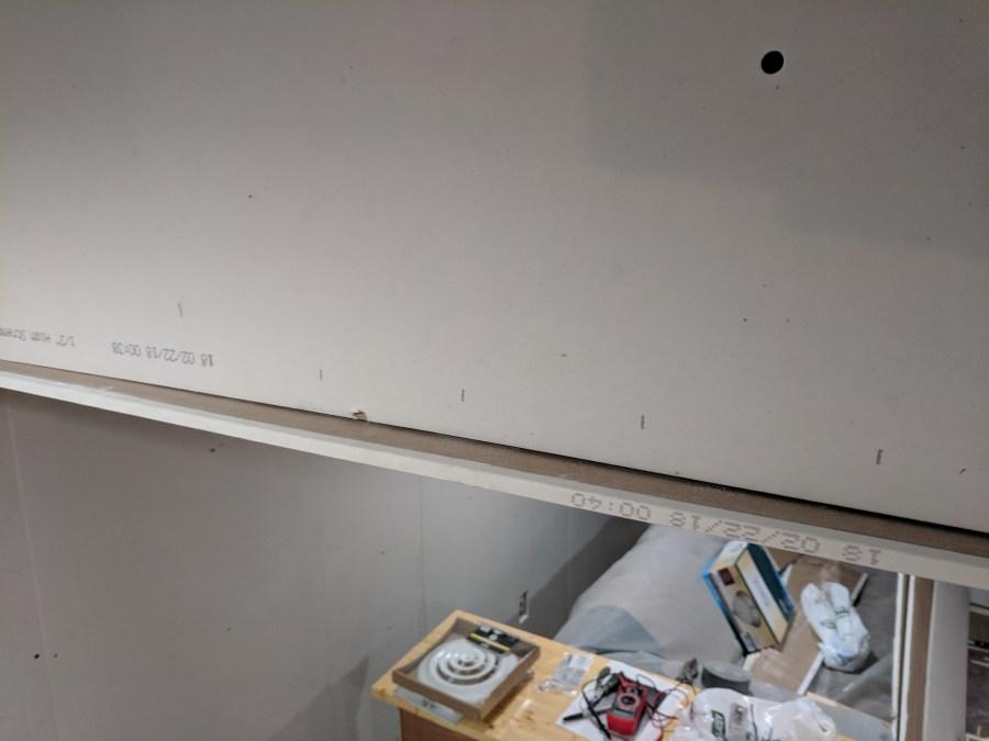 Ceiling drywall HVAC casing issue
