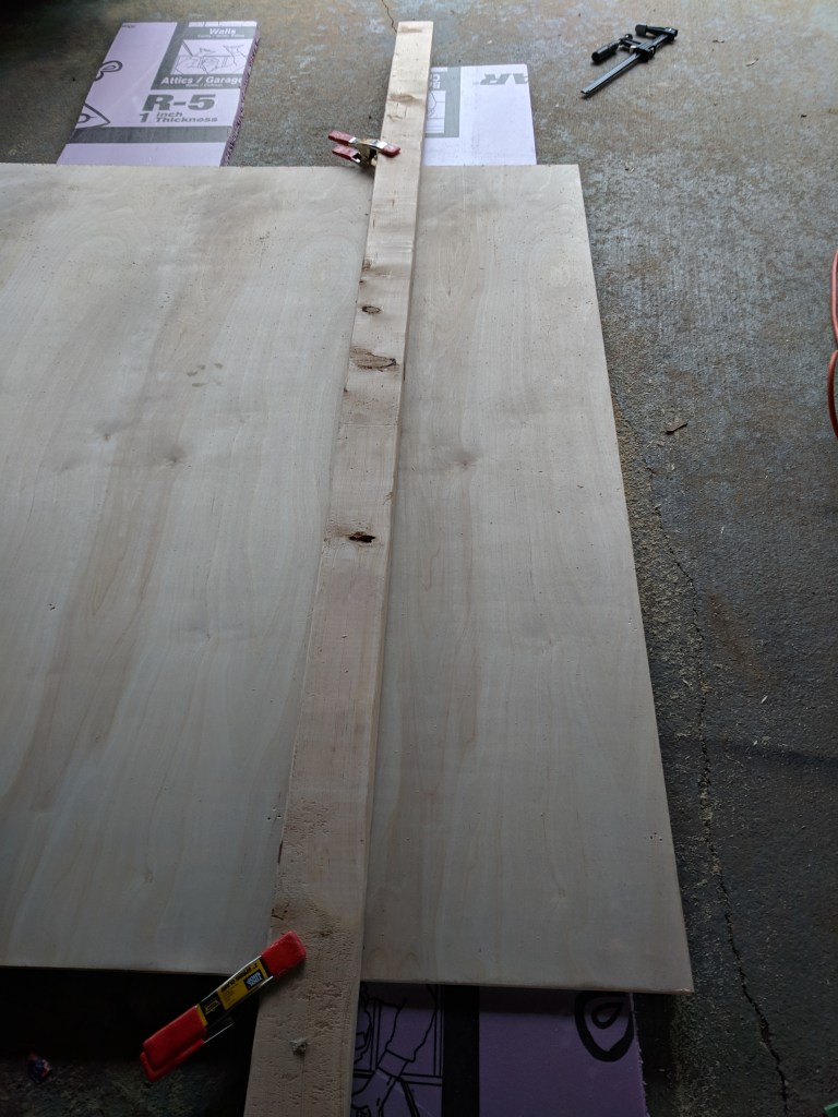 Growth rulers cutting plywood