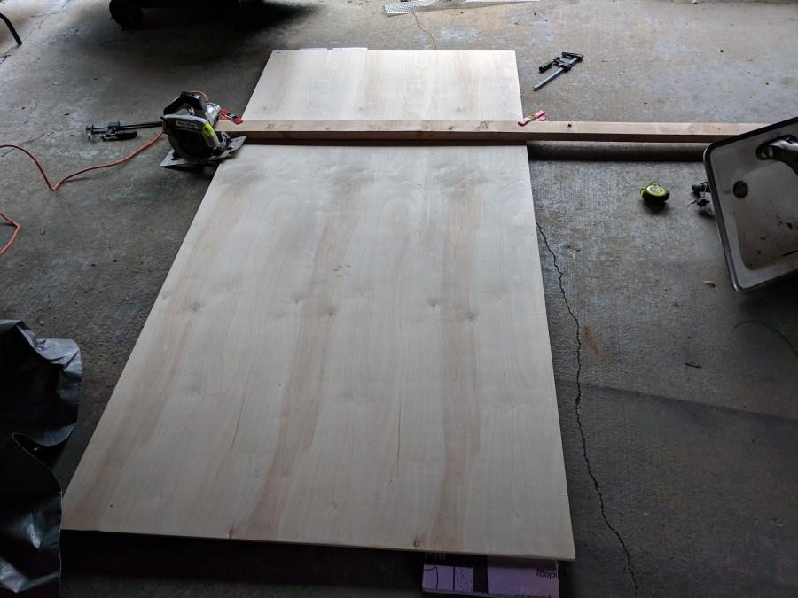 Growth rulers cutting plywood