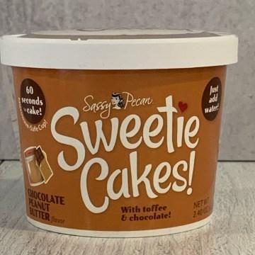 Chocolate Peanut Butter Sweetie Cakes Mug Cake