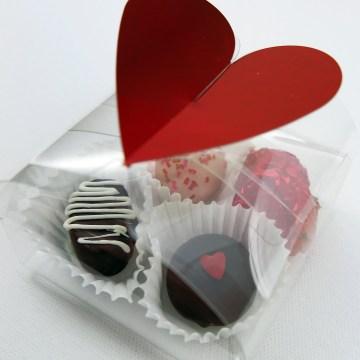 Heart Valentine 4 piece Truffle Box