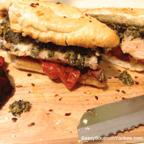 Grilled Turkey Pesto Sandwich from Sassy Southern Yankee