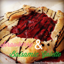 Strawberry & Balsamic Galette from Sassy Southern Yankee