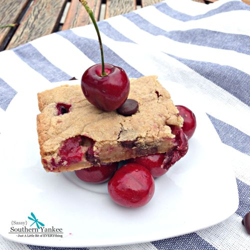 Chocolate Covered  Cherry Blondies 11