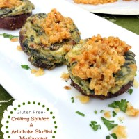 Creamy Spinach and Artichoke Stuffed Mushrooms