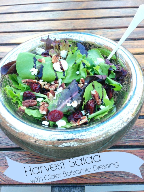 Harvest Salad with Cider Balsamic Dressing