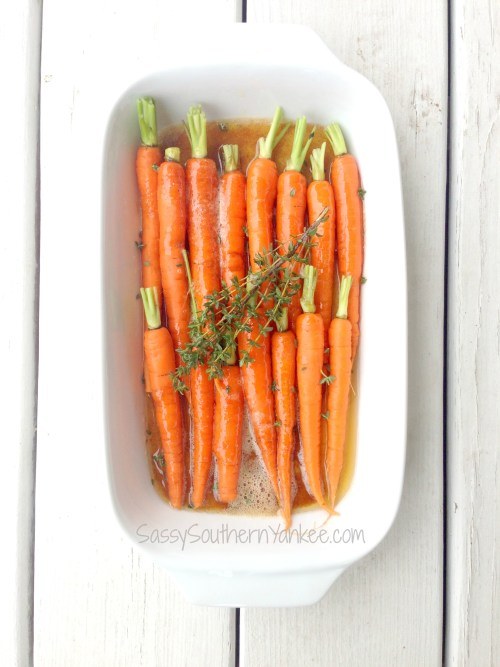 Brown Butter Honey Roasted Carrots with Thyme 2