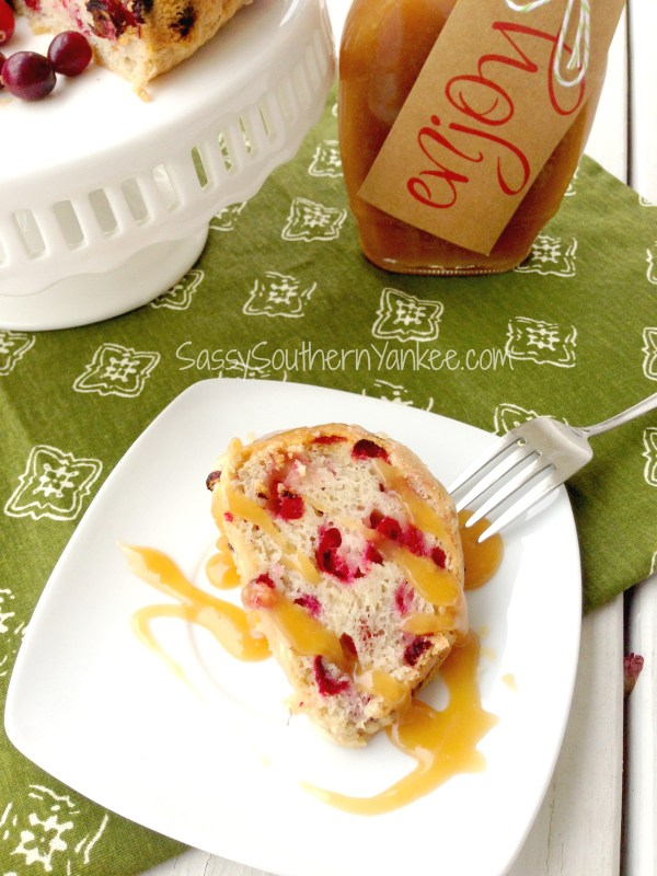 Cranberry Cake with Caramel Sauce 2