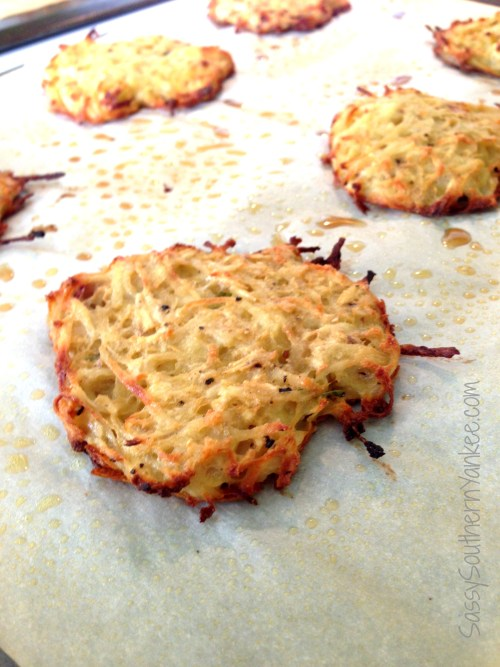 Baked Potato and Parsnip Latkes