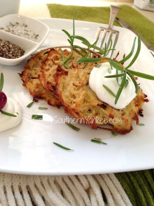 Healthier Baked Potato and Parsnip Latkes