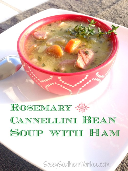Rosemary Cannellini Bean Soup with Ham 3