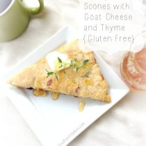 Cherry Almond Scones with Goat Cheese and Thyme {Gluten Free} 6