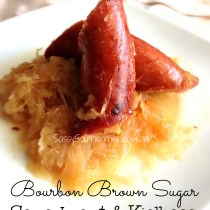 Bourbon Brown Sugar Sauerkraut and Kielbasa 2