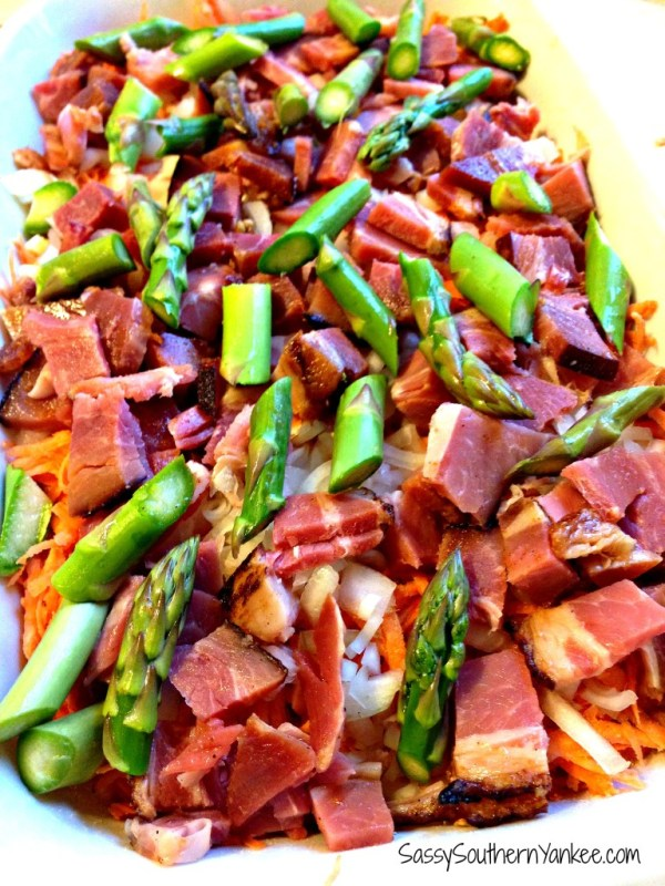 Asparagus and Ham Breakfast Casserole 2