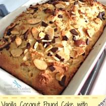Vanilla Coconut Pound Cake with Dark Chocolate (Gluten Free) 5