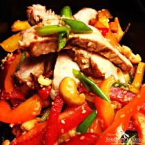 Multi Colored Pepper Salad with Sesame Ginger Dressing 4